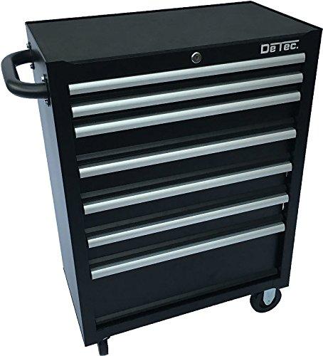DeTec-Werkstattwagen-7-Schubladen-in-schwarz-ohne-Werkzeug