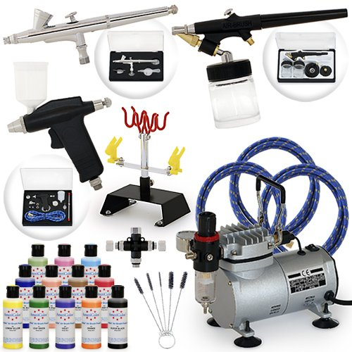 Pro Airbrush Cake Decorating Set - 12 AmeriMist Colors (Office Product)