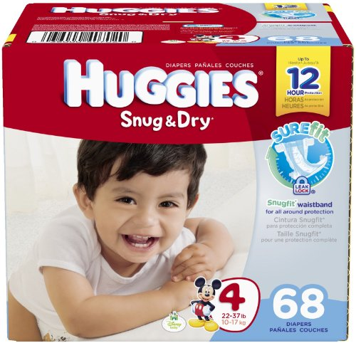 Huggies Snug and Dry Diapers - Size 4 - 68 ct - 1