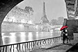 Paris - Eiffel Tower Kiss Poster 36 x 24in
