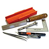 Zona 38-700 Hobby Tool Kit, Plastic Mini Miter Box 35-250, 32Tip Ultra Thin Razor Saw 35-200, Pin Vise 37-140, L-Square Ruler 37-434, Retractable Knife Set 39-850