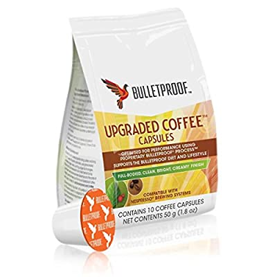 Bulletproof Upgraded Coffee Capsules for Nespresso Machines - 10 Capsules from Bulletproof