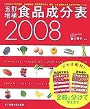 五訂増補食品成分表 2008—文部科学省科学技術・学術審議会資源調査分科会報告「五訂増補日本食品標準成分表」に (2008)
