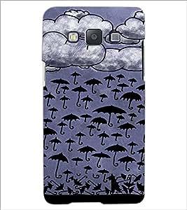 PrintDhaba Umbrellas Design D-3488 Back Case Cover for SAMSUNG GALAXY E5 (Multi-Coloured)
