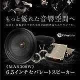 2Wayセパレートスピーカー ツイーター セット 200W 埋め込み 6.5インチ 金