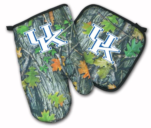 University Of Kentucky Real Camo Mitt Potholder Set Uk Wildcats Logo Ncaa Tailgating Or Barbecue Realistic Camo College