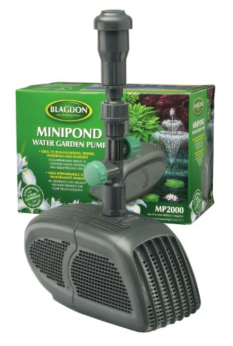 New blagdon mini pond pump 2000 garden waterfall fountain for Outdoor fish pond filters and pumps