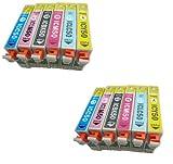 IC6CL50 2パックセット (6色×2パック=合計12個) 高品質 個別包装 EPSON 互換インク ICチップ付き 残量表示可能 [ZAZ] [Amazon認定FFPパッケージ(A)]
