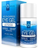 Eye Cream for Wrinkles, Dark Circles, Puffiness & Bags - BEST 100% Natural Anti Aging Gel With Hyaluronic Acid, Organic Jojoba Oil, MSM, Peptides & More - For Men & Women - InstaNatural - 1.7 OZ