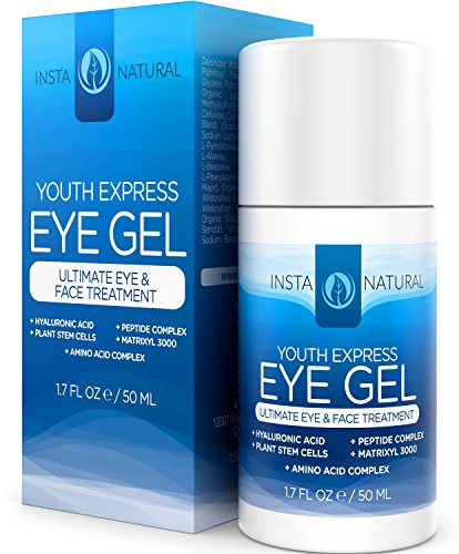 InstaNatural Eye Gel Cream - For Wrinkles, Dark
