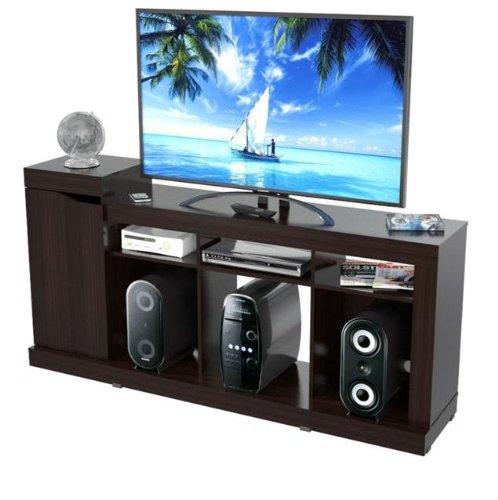 Inval Mtv-6519 Modern Flat-Screen Tv Stand, 50-Inch, Espresso-Wengue