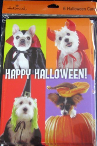Hallmark Halloween H1204 Package of Happy Halloween Doggy Greeting Cards