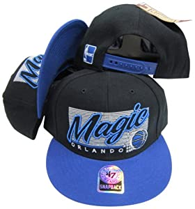 Orlando Magic Two Tone Plastic Snapback Adjustable Plastic Snap Back Hat Cap by Twins