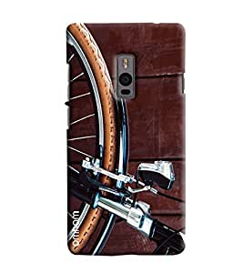 Omnam Cycle Wheel Printed Designer Back Cover Case For OnePlus Two