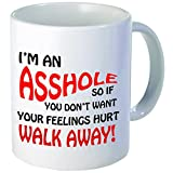 Best funny gift - 11OZ Coffee Mug - I'm an asshole - Perfect for birthday, men, women, present for him, her, sister, brother, wife, husband or friend.