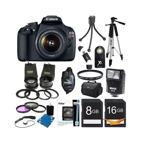 Canon EOS Rebel T5 18MP DSLR Camera Bundle