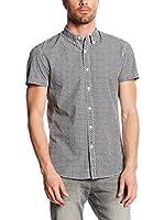 TOM TAILOR Denim Camisa Hombre (Gris)