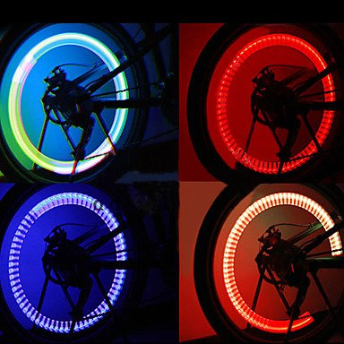 Commoon Ships In 24 Hours Motion Activated Flashing Multi-Colored Led Wheel Lights For Bicycle