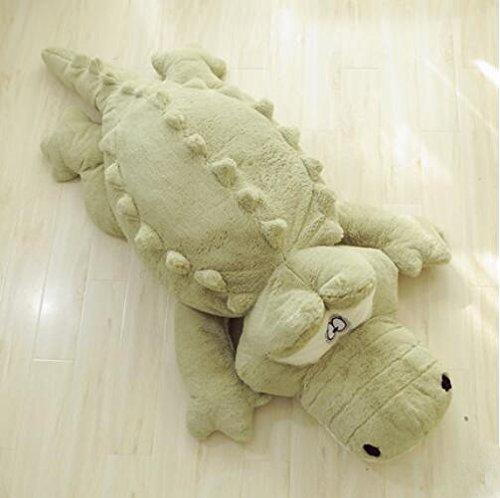 YunNasi 160CM/63'' krokodil Plüschtier kuscheltier Super Groß xxl Kroko stoffspielzeug Bett Deko Plüsch Tier Kissen (Grün) -