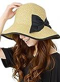 (ディーループ)D-LOOP 紫外線対策 リボン付き カプリーヌハット 女優帽 つば広ハット 今季最新 120014 ランキングお取り寄せ