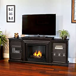 Real Flame Frederick Entertainment Center Ventless Gel Fireplace - Blackwash