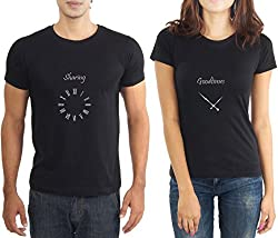 LaCrafters Couple Tshirt - Sharing Goodtimes Black_Small