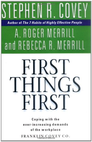 First Things First ISBN-13 9780684858401