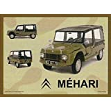 PLAQUE METAL 20X15cm CITROEN MEHARI
