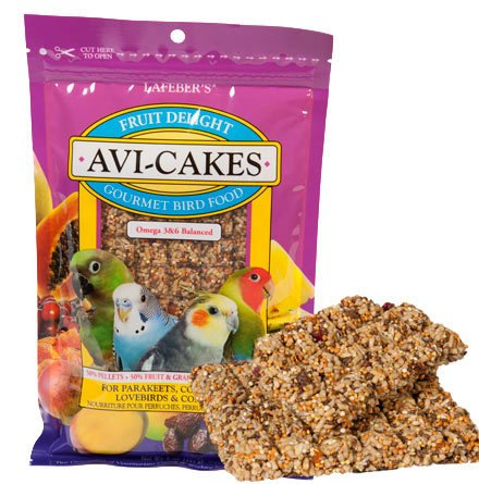 Cheap Brand New, Lafebers Fruit Delight Avi-Cakes for Small Birds 8oz Bag (Bird – Treats) (MSS160-86210-RR|1)