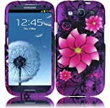 Divine Flower Design Hard Case for Samsung Galaxy S3 i9300