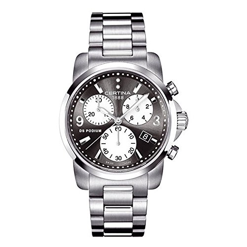 Certina DS Podium c001.217.11.056.00-Swiss Women Watch With Chain And Dial Dark Grey