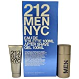 212 Men Eau-De-Toilette Spray, After Shave Gel by Carolina Herrera, 2 Count by Carolina Herrera