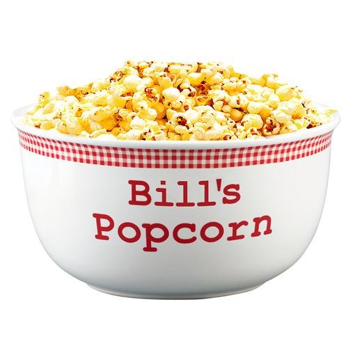 Personalized Red Gingham Popcorn Bowl - 2 Quart