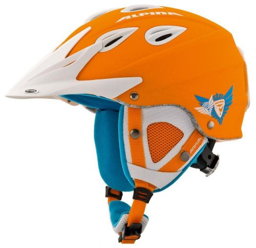 ALPINA Erwachsene Skihelm Grap Cross Orange orange 58-61 Inch