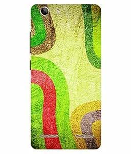 Make My Print Abstract Printed Colorful Hard Back Cover For Lenov Vibe K5 Plus
