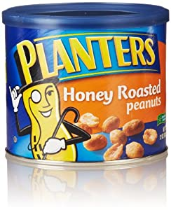 Planters Honey Roasted Peanuts, 12 Oz
