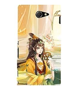 EPICCASE fairy princess Mobile Back Case Cover For Sony Xperia M2 (Designer Case)