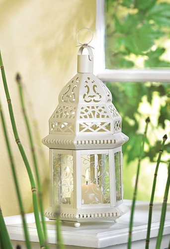 9 Mid White Moroccan Lantern