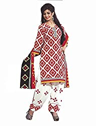 Pure Cotton Printed Straight Cut Unstitched Suit