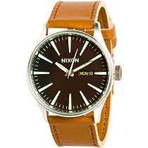 Nixon A105-2037 Mens Sentry Black Saddle Watch