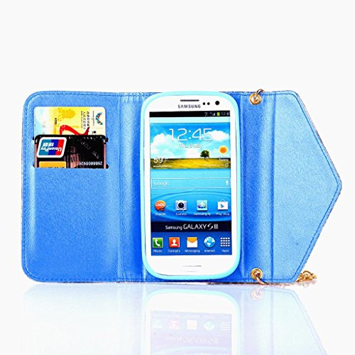 Galaxy S3 Case,S3 Flip Case,&Uncle. Y Premium Pu Leather Colorful Design With Credit Card Slots Chain Inner Soft Cradle Crown Magnetic Button For Girl Protective Cover Case For Samsung Galaxy S3 I9300 stm8l101k3t6 qfp