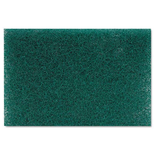 Premiere Pads Products - Premiere Pads - Heavy Duty Scour Pad, Green, 6 x 9, 15/Carton - Sold As 1 Carton - Thick, heavy-duty pad tackles tough cleaning jobs. - Ideal for cleaning food processing equipment and heavily baked-on foods. - Removes scuff marks