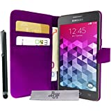 Etui Housse Luxe Violet Portefeuille Samsung Galaxy Grand Prime SM-G530FZ \ Grand Prime VE Value Edition SM-G531F + STYLET et 3 FILM OFFERT!!