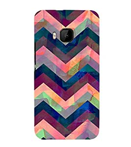 EPICCASE Angular Pattern case Mobile Back Case Cover For HTC One M9 (Designer Case)