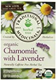 Traditional Medicinals Organic, Chamomile with Lavender, 16-Count Boxes (Pack of 6)