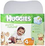 Huggies Pure and Natural Diapers, Size 4, 124 Count
