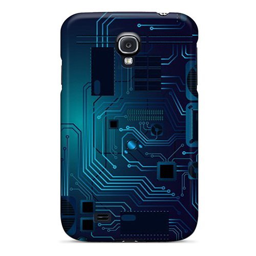 Hot Design Premium Gwu591Tjtj Tpu Case Cover Galaxy S4 Protection Case(Circuit Board)