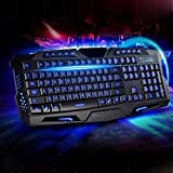 BESTRUNNER LED 3 Color Backlit Illuminated USB Wired PRO Gaming Keyboard For Laptop Desktop