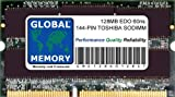 128MB 60ns 144-PIN LOW PROFILE EDO SODIMM MEMORY RAM FOR TOSHIBA LAPTOPS/NOTEBOOKS