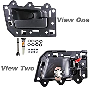 Apdty 93239 interior inside door handle replacement kit fits 2005 2010 jeep grand 2005 jeep grand cherokee interior door handle replacement